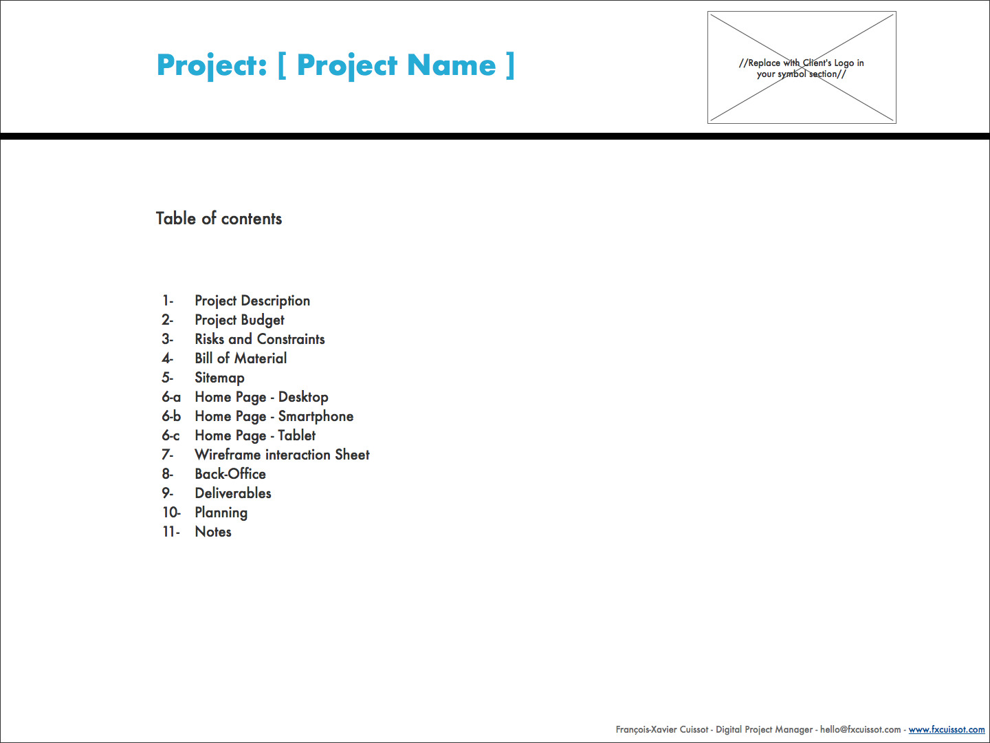 Project Charter Template Balsamiq Digital Project Management