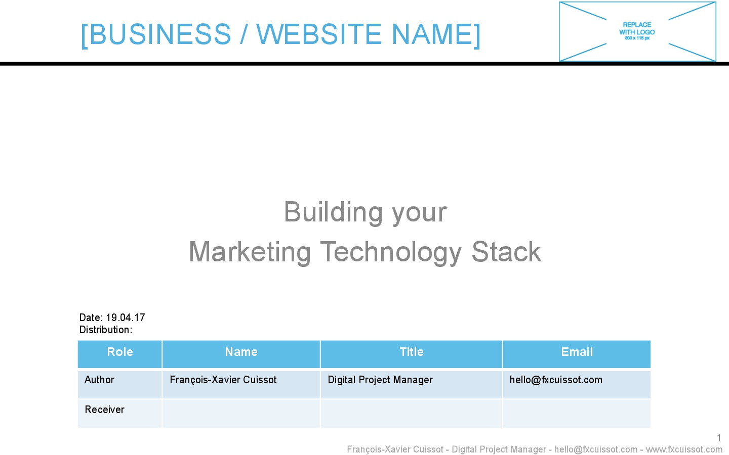 Building Marketing Technology