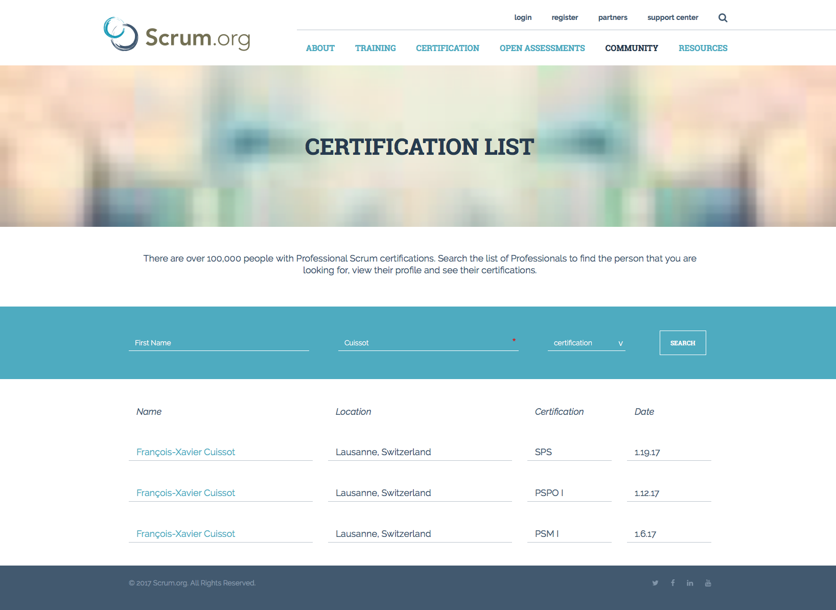 Scrum Certifications List
